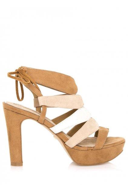 Hnědé extravagantní sandály Maria Mare