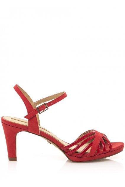 Červené sandály na nízkém podpatku Maria Mare