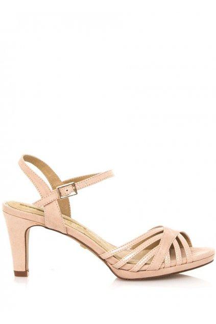 Béžové sandály na nízkém podpatku Maria Mare