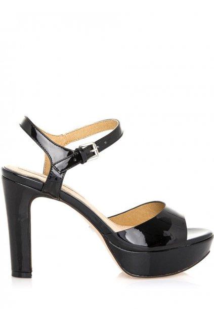 Černé lesklé sandály Maria Mare
