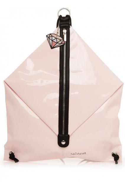 Světle růžový pytlový batoh Sixtyseven
