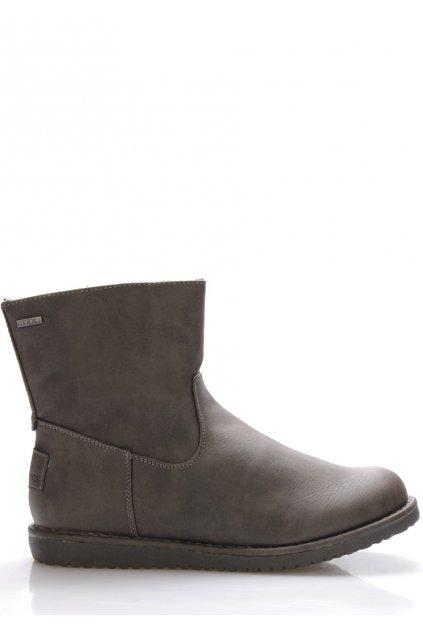 Šedé zimní boty Canadians