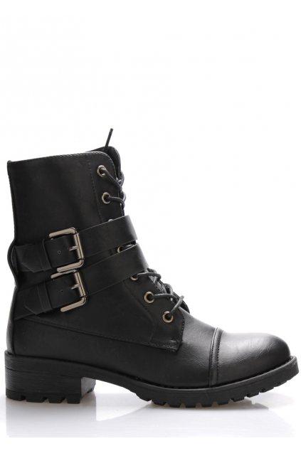 Černé vysoké kotníkové boty Monshoe