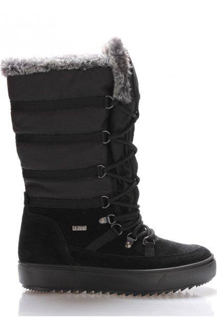Černé italské sněhule s šedým kožíškem M&G