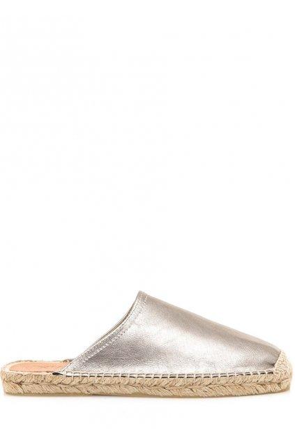 Stříbrné espadrilové nazouváky Sixtyseven