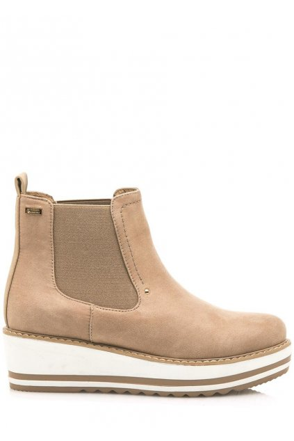 Hnědé kotníkové boty na klínku MTNG
