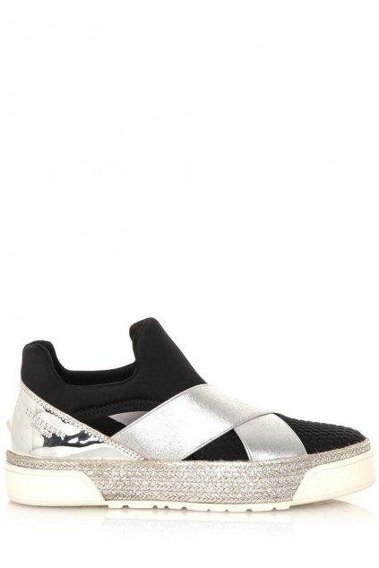 Černo stříbrné boty Sixtyseven