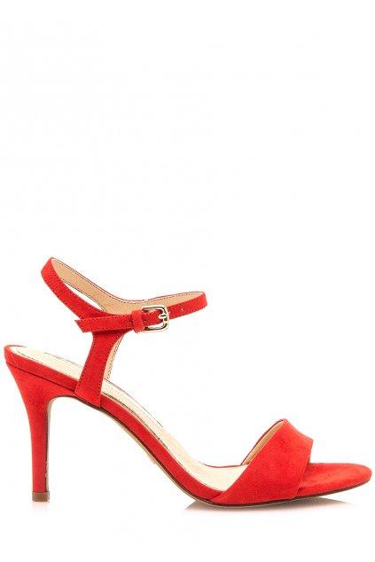Červené sandály na jehlovém podpatku Maria Mare