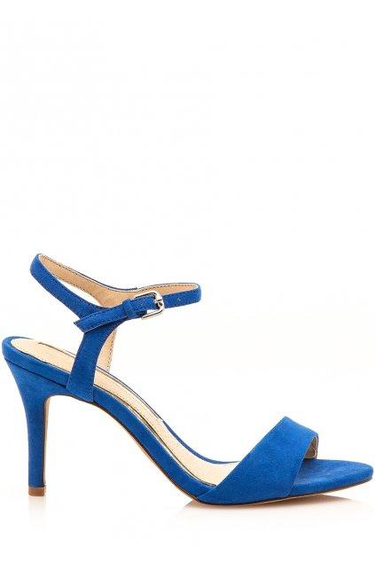 Modré sandály na jehlovém podpatku Maria Mare