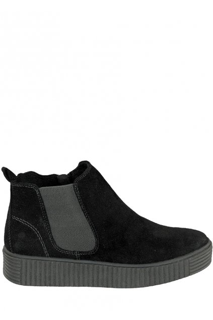 Černé kotníkové boty s gumovou vsadkou Jane Klain