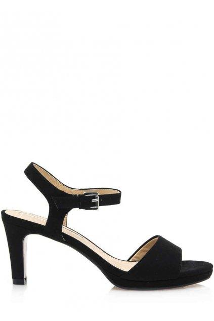 Černé sandály na nižším podpatku Maria Mare