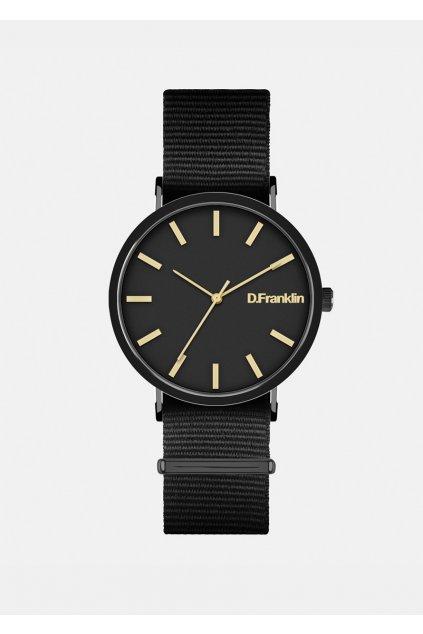 Černé hodinky D.Franklin