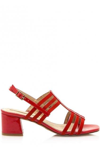 Červené sandály se širokým podpatkem Maria Mare