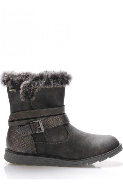 Černé zateplené zimní boty Jane Klain