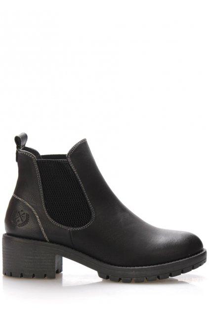 Černé boty na širokém podpatku Jane Klain