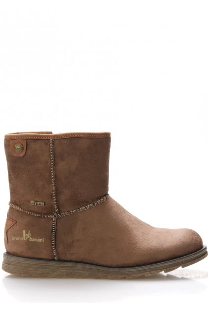 Hnědé zimní boty s kožíškem Bruno Banani