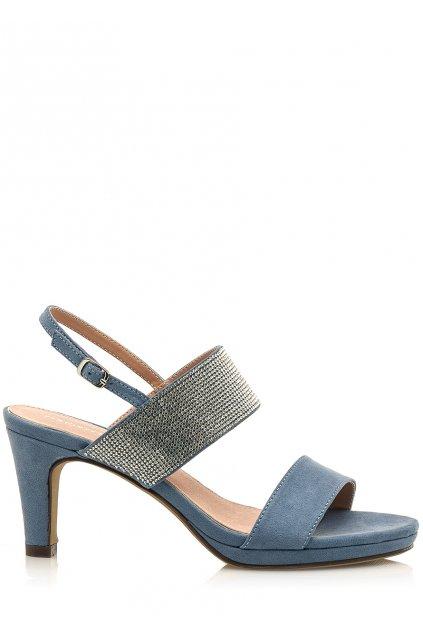 Modré sandálky se širšími pásky Maria Mare