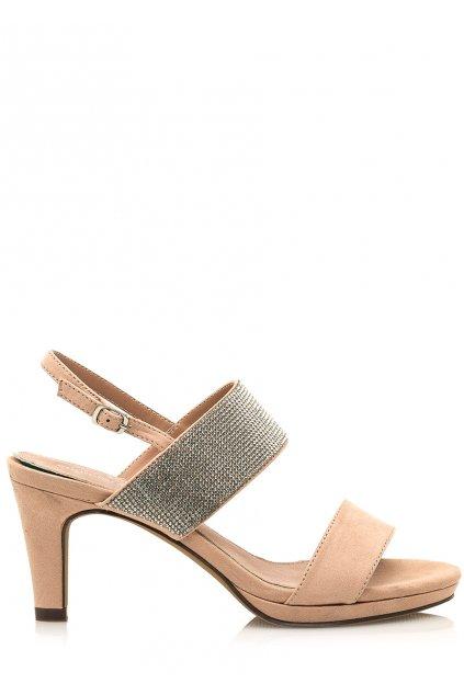 Béžové sandálky se širšími pásky Maria Mare