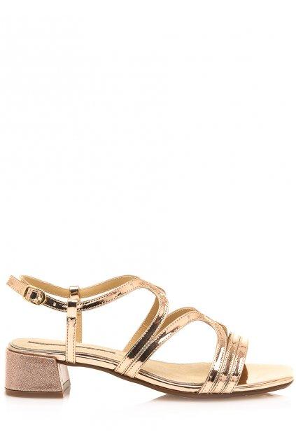 Sandály se širokým podpatkem v růžově zlaté Maria Mare