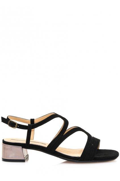 Černé sandály se širokým podpatkem Maria Mare