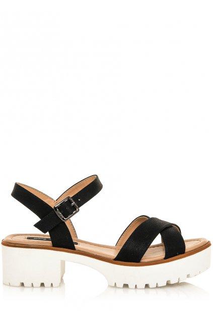 Černé sandály na rozdělené platformě MTNG