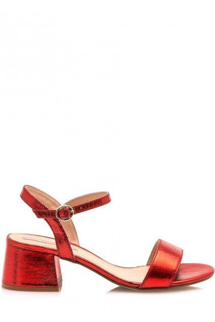 Červené sandálky s šírokým podpatkem MTNG