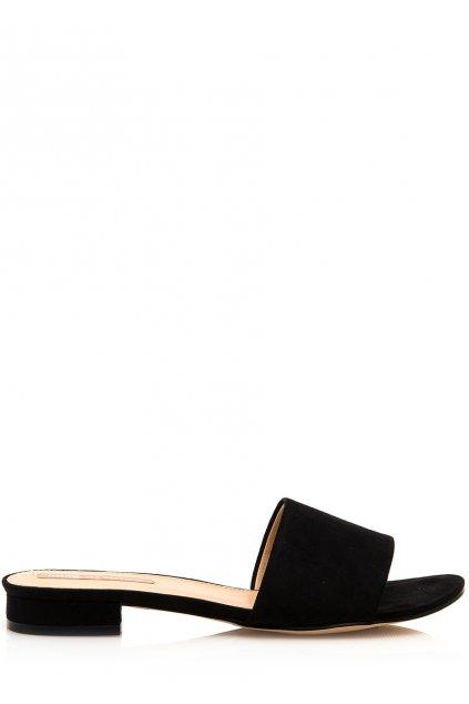 Černé pantofle na nízkém podpatku MTNG