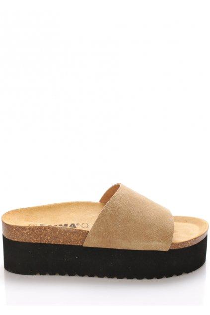 bezove kozene pantofle na platforme emma shoes1