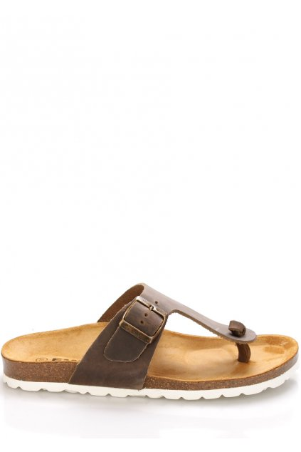 hnede kozene zdravotni pantofle emma shoes1