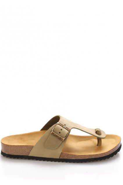 olivove zelene kozene zdravotni pantofle emma shoes1
