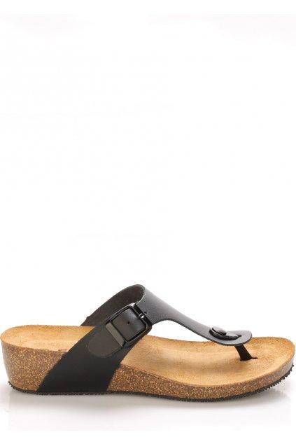 cerne kozene zdravotni pantofle na klinku emma shoes1