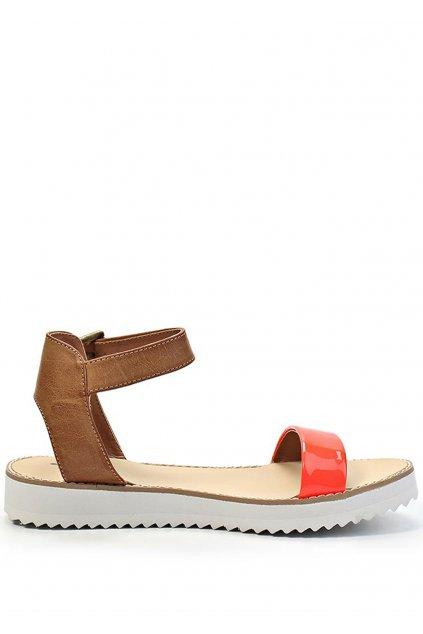 Páskové oranžové sandály na platformě Timeless Quing