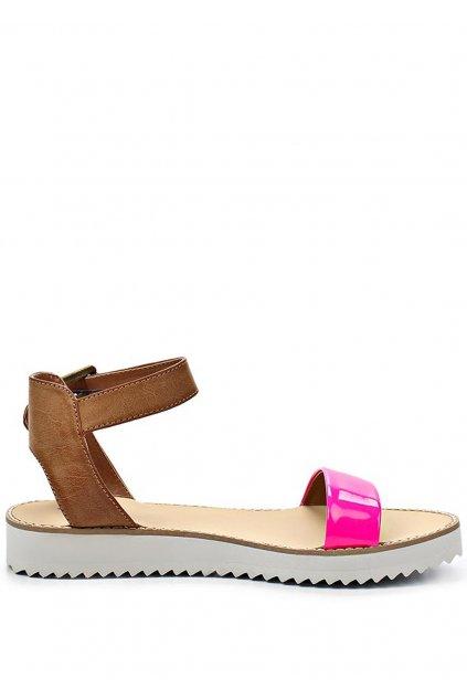 Páskové růžové sandály na platformě Timeless Quing