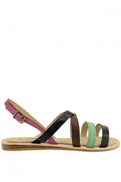 Barevné páskové gepardí sandály Timeless