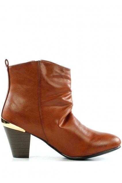Brandy kotníkové boty na podpatku se zipem Claudia Ghizzani