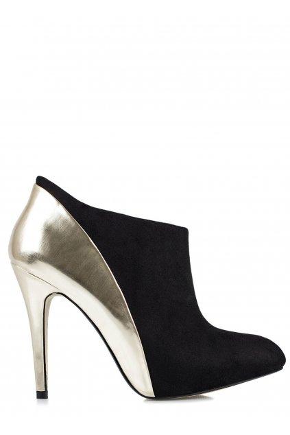 Černé kotníčkové boty na podpatku Timeless Paltiel
