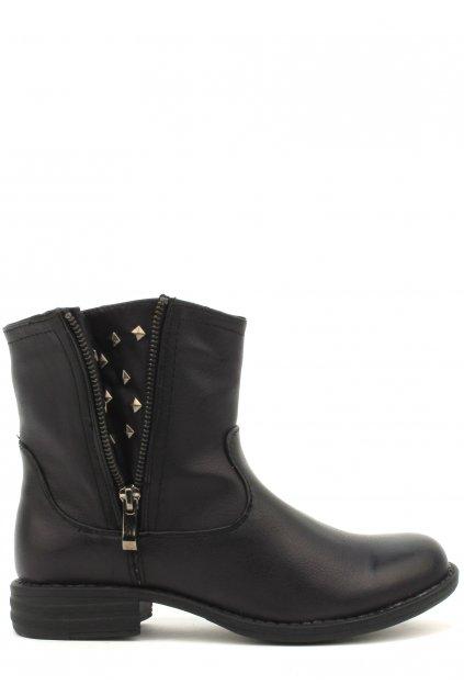 Černé kotníčkové boty Timeless