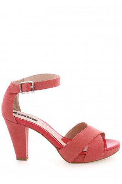 Červené sandály na širším podpatku MTNG