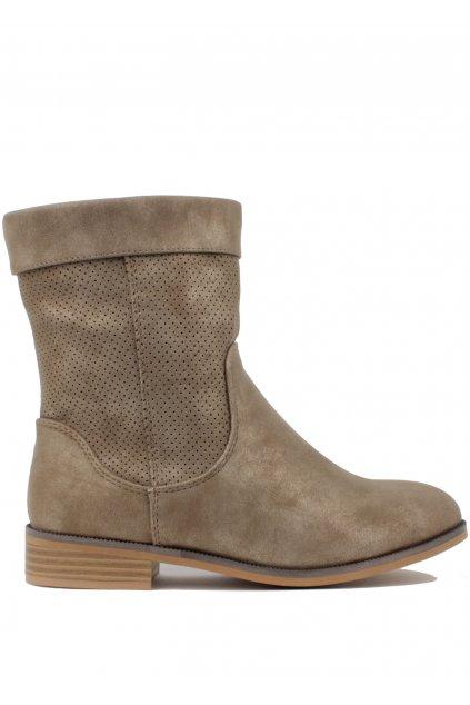 Hnědé letní kozačky H3 shoes