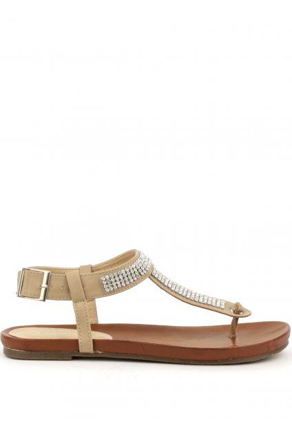 Letní sandály Claudia Ghizzani v béžové