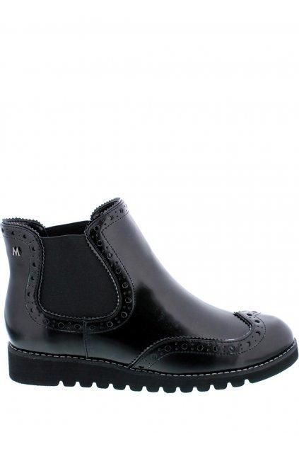 Černé kotníkové boty s gumovou vsadkou MARIA MARE