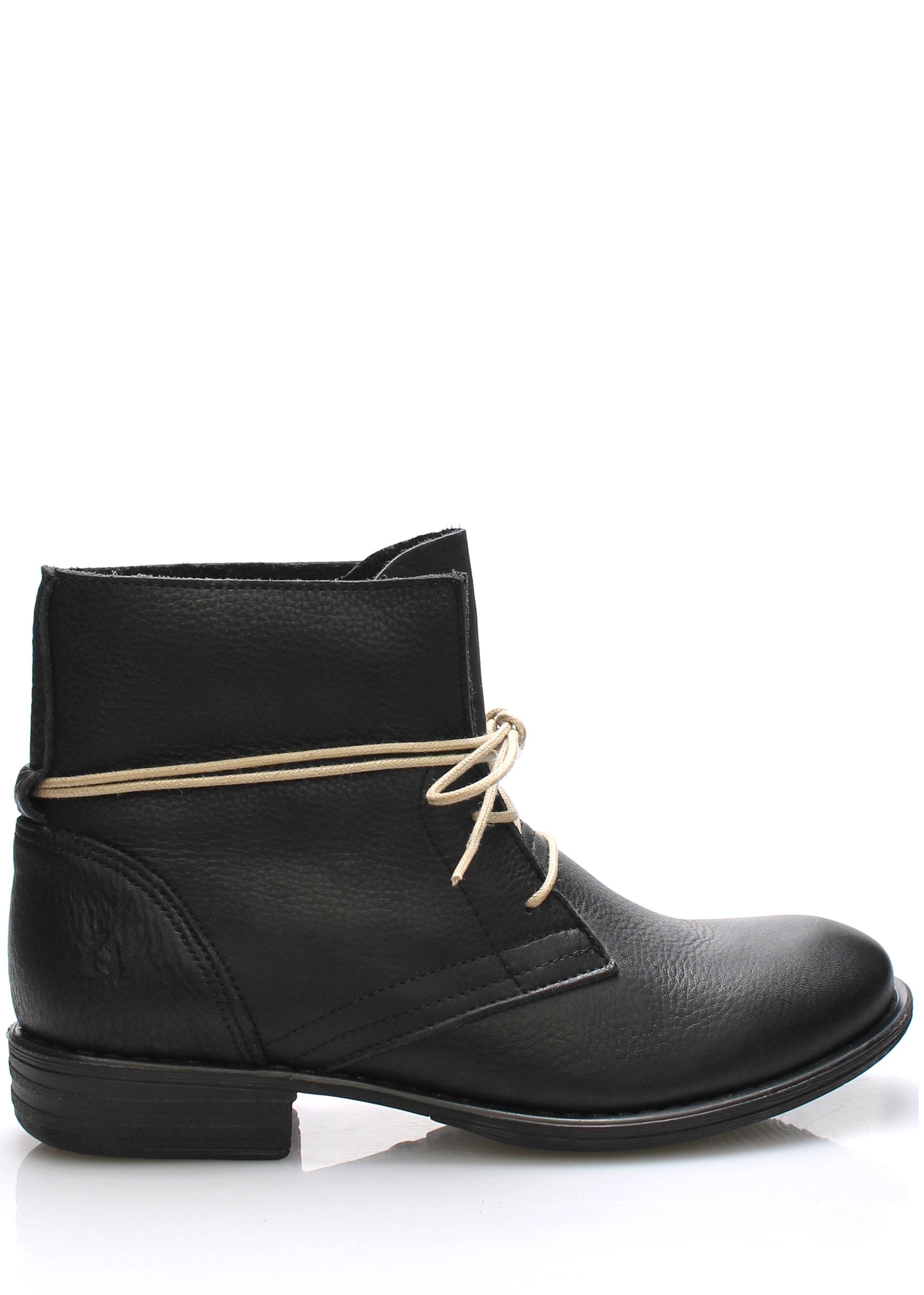d4a27e06cf Černé kožené boty s tkaničkami Online Shoes Velikost  42