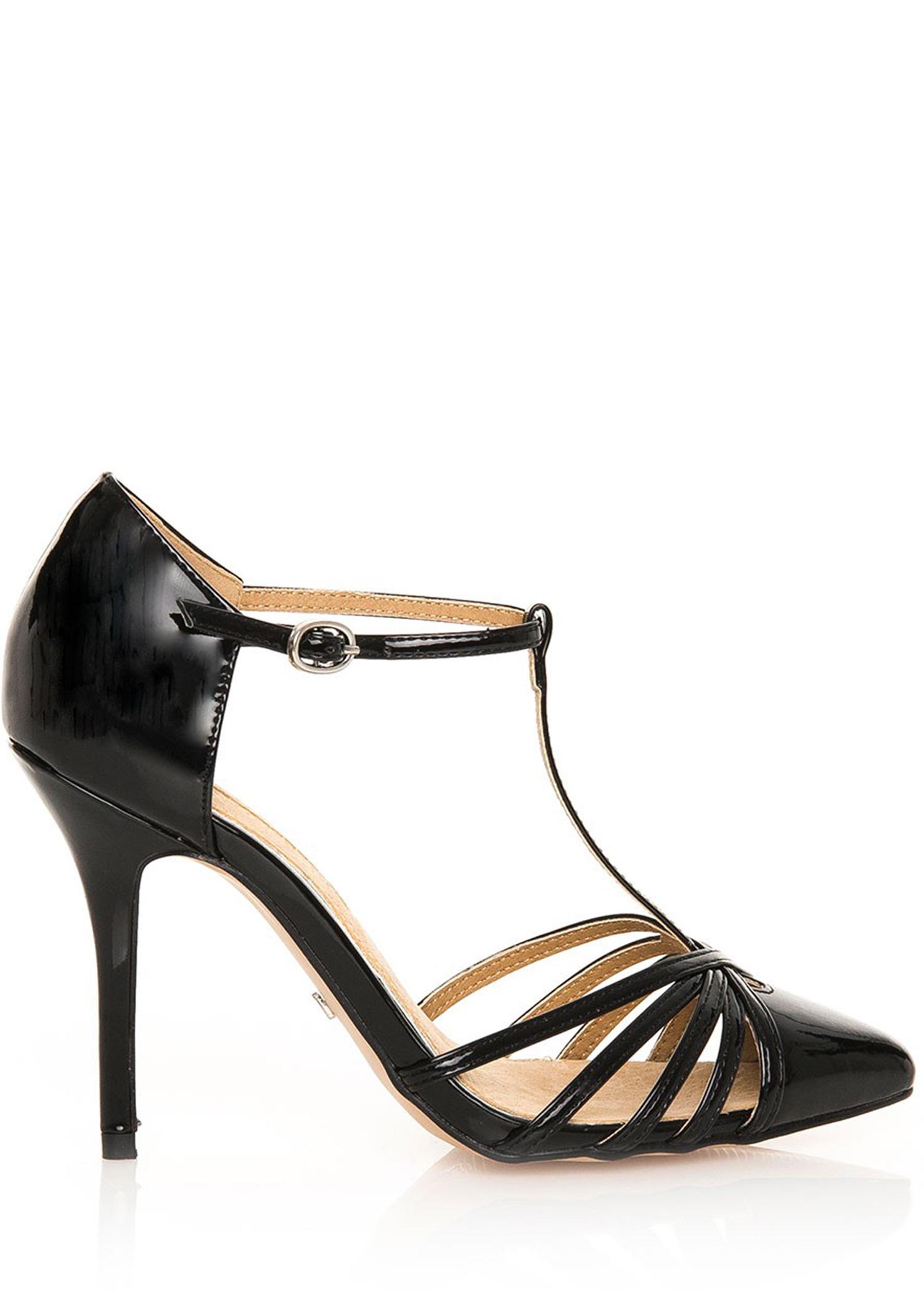 cfd450f14691 Černé sandály na jehlovém podpatku MARIA MARE Velikost  40