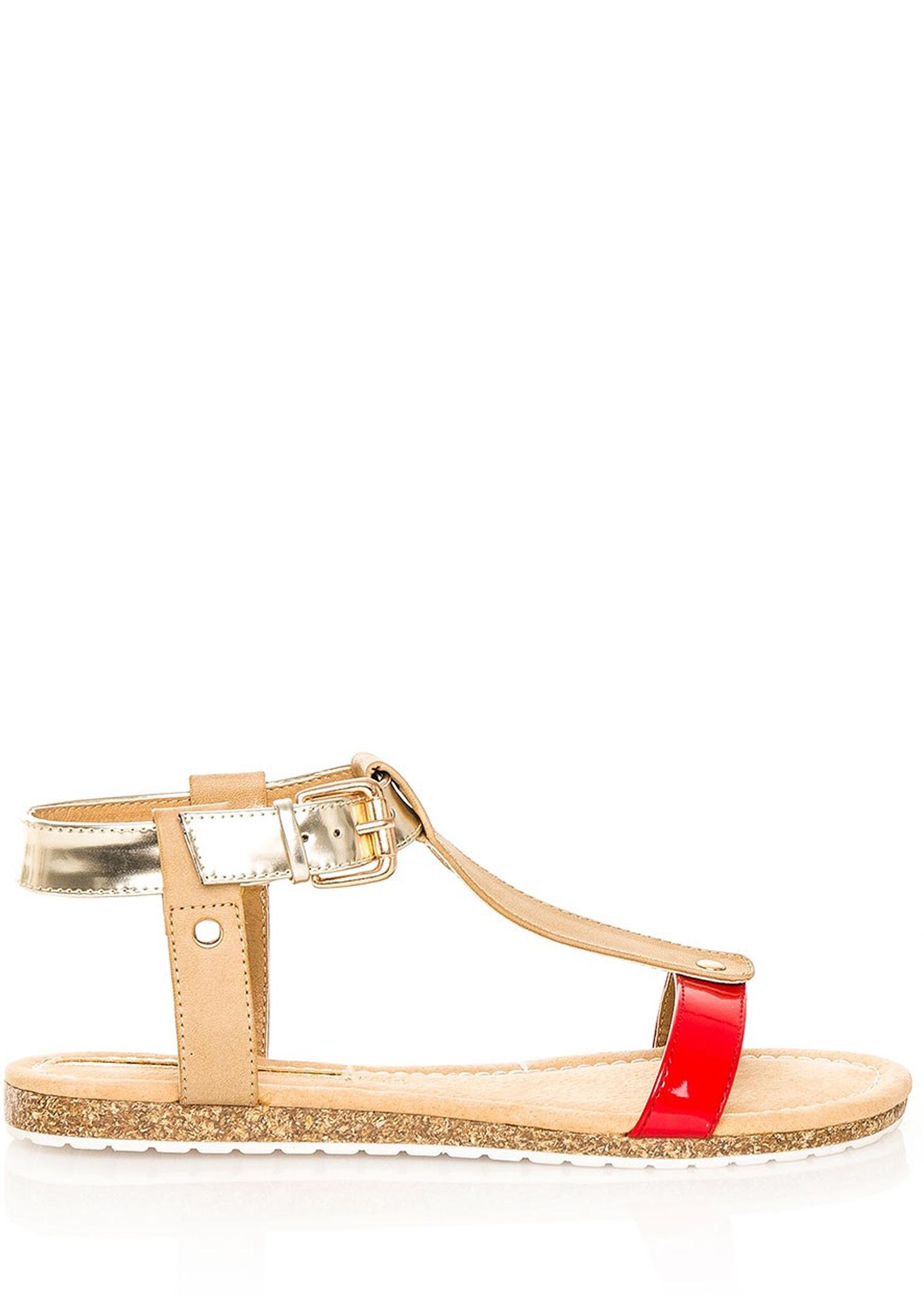 f07e1064c Červeno-zlaté korkové letní sandálky MARIA MARE Velikost: 36