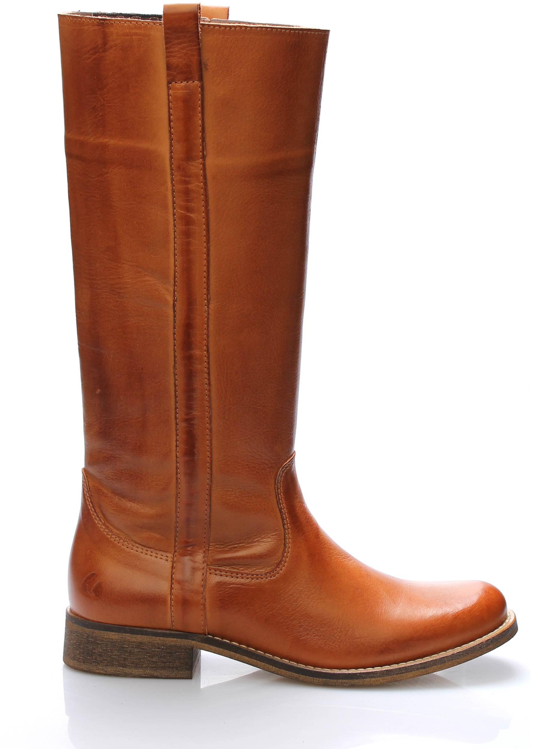 0b7e8fe296e7e Hnědé kožené nižší kozačky Online Shoes Velikost: 36