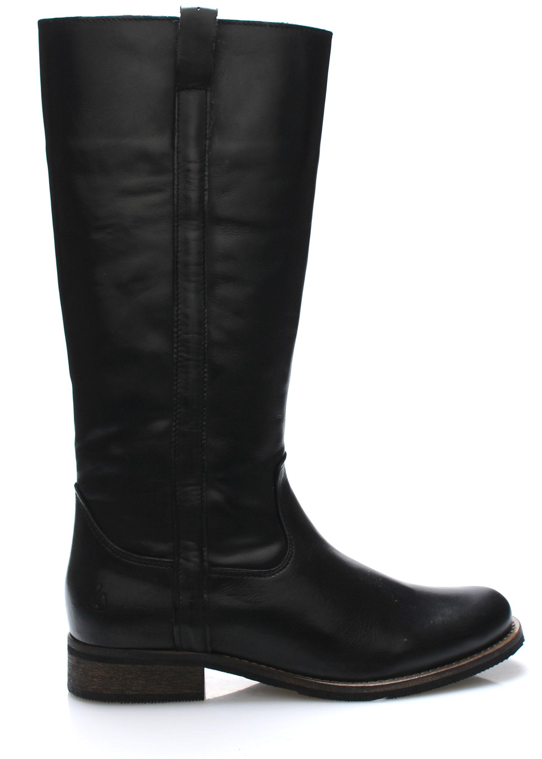 Černé kožené nižší kozačky Online Shoes Velikost: 39