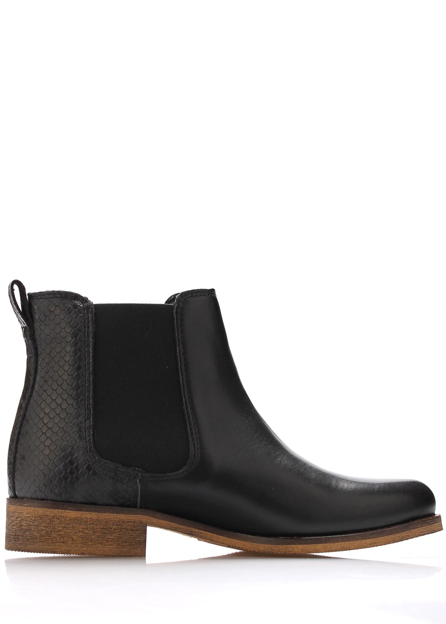 Černé kožené boty pérka Online Shoes Velikost: 38