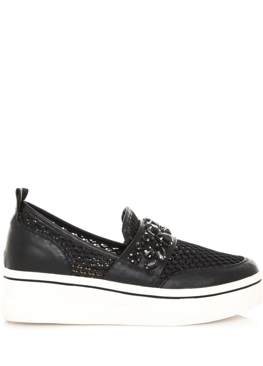 Černé nazouvací boty na platformě Maria Mare Velikost: 37