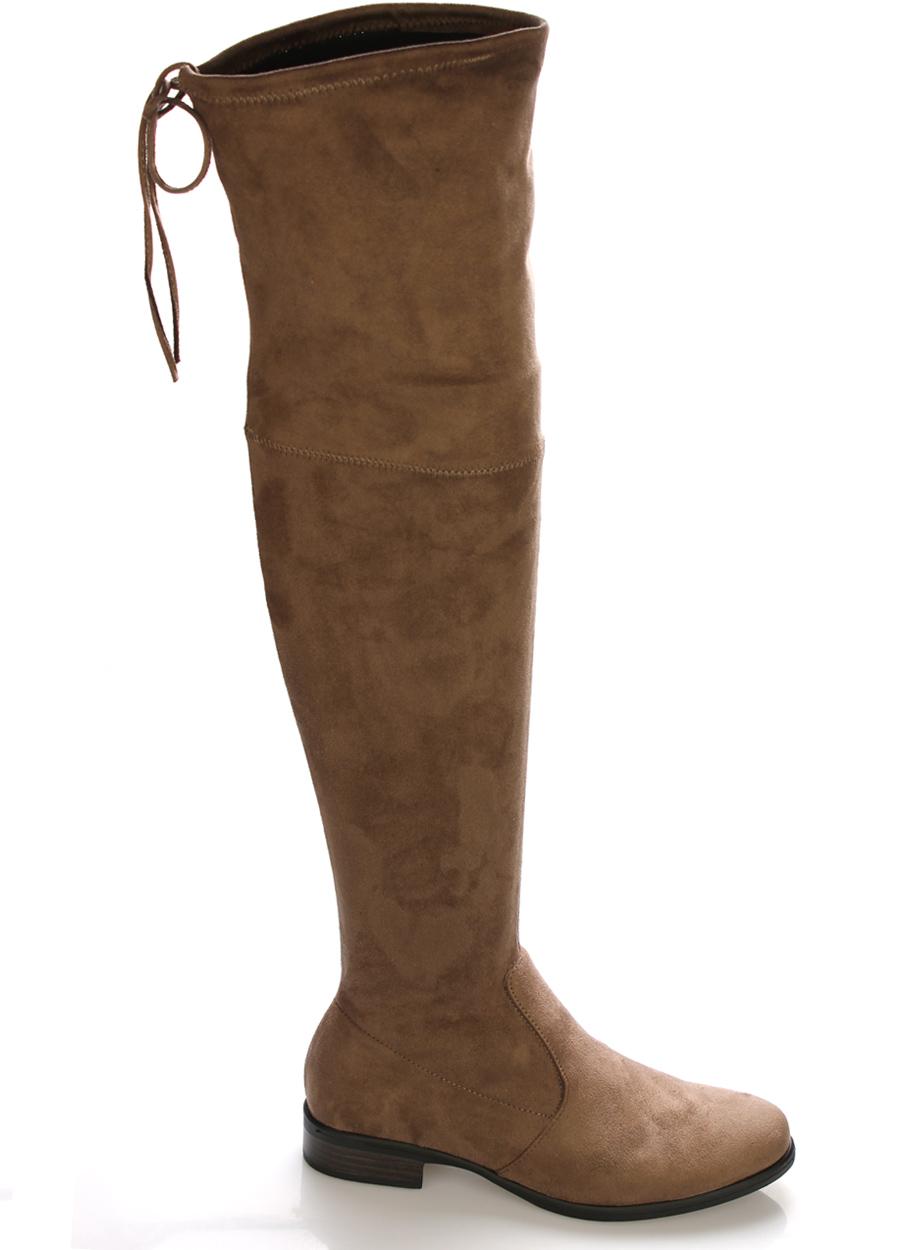 323fc20622bf Hnědé elastické kozačky nad kolena Claudia Ghizzani Velikost  37