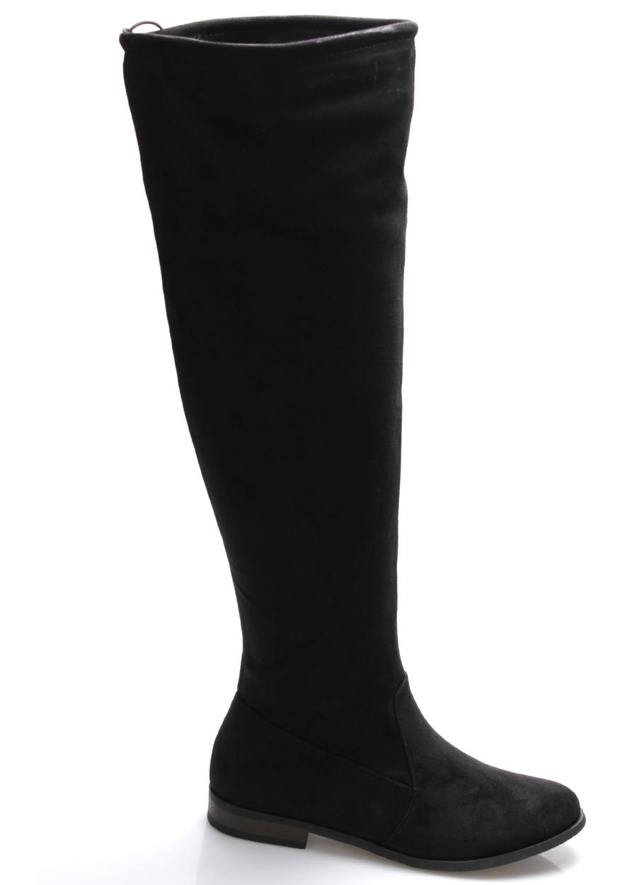 Černé vysoké kozačky Monshoe Velikost: 40